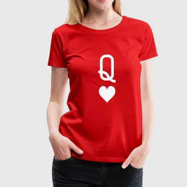 Queen_of_hearts - Women's Premium T-Shirt
