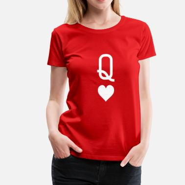 Queen Queen_of_hearts - Women's Premium T-Shirt