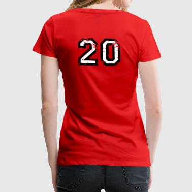 The Number Twenty - No. 20 (two-color) white - Women's Premium T-Shirt
