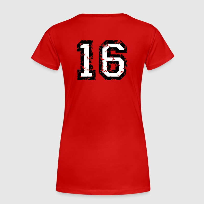 The Number Sixteen - No. 16 (two-color) white - Women's Premium T-Shirt
