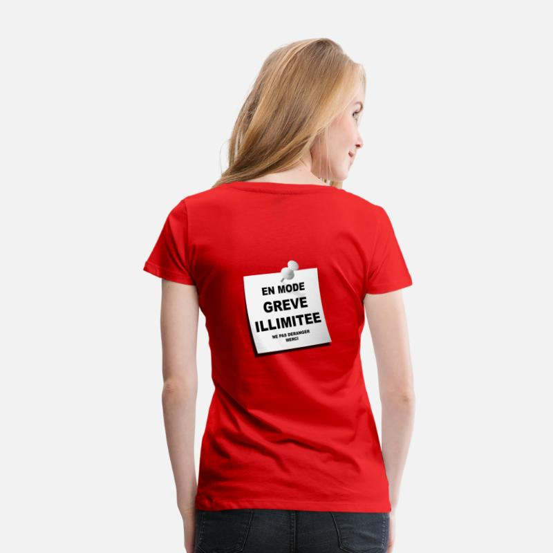 Syndicale T-shirts - france, lutte syndicale - T-shirt premium Femme rouge