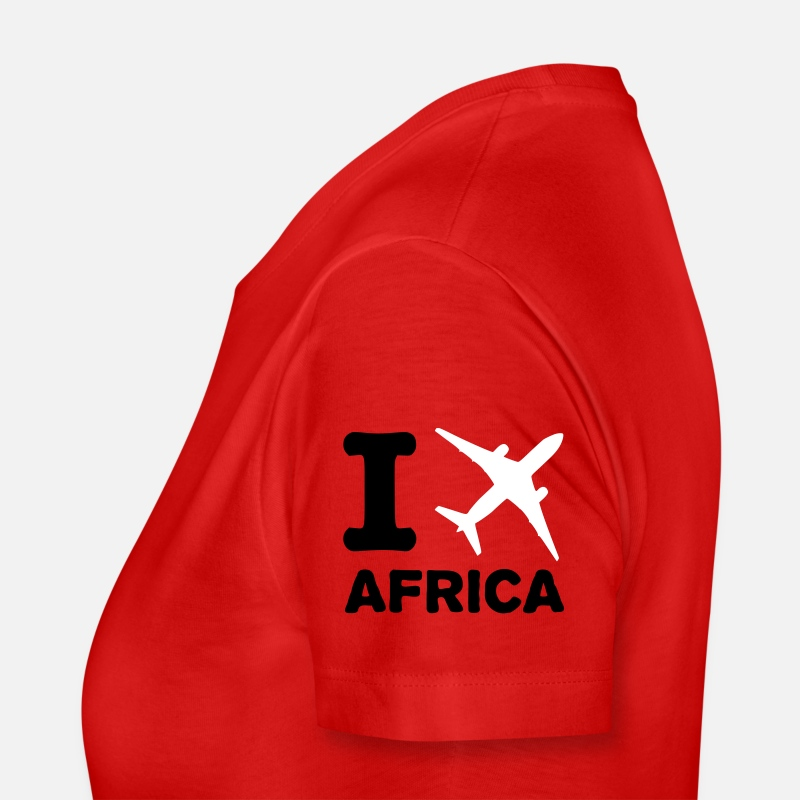 Fly T-Shirts - I fly Africa - Women's Premium T-Shirt red