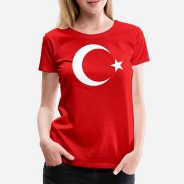 9f9ffa69347d Stjerne Tyrkiet Tyrkiet måne stjerne ikon stjerne segl Türkiye - Premium T- shirt dame