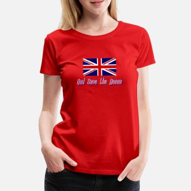 Britische Flagge Großbritannien Flagge God Save the Queen - Frauen Premium T-Shirt
