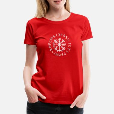 Rune Vegvisir Rune Circle - Conception Viking - T-shirt premium Femme
