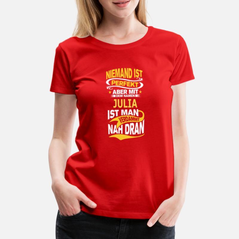 damen t-shirts frau vergeben an julia mann