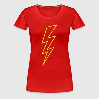 Blitz Zeichen Flash Hochspannung High Voltage - Frauen Premium T-Shirt
