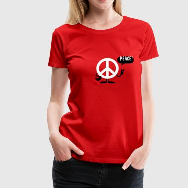 peace sign - Frauen Premium T-Shirt
