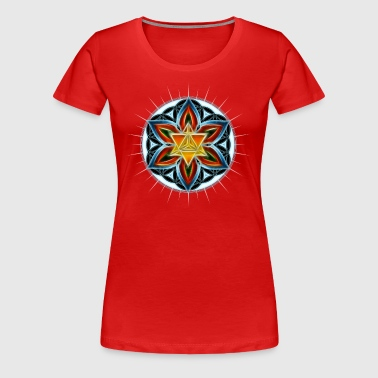 Merkaba, Flower of Life, Spirituality, Star - Women's Premium T-Shirt