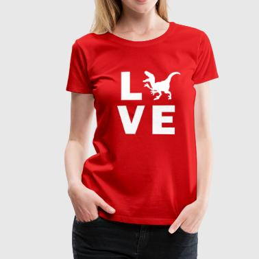 Love Dino - Frauen Premium T-Shirt