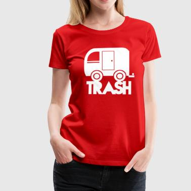 TRAILER trash simple caravan camper - Women's Premium T-Shirt