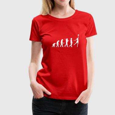 Volleybollspelare Evolution - Premium-T-shirt dam