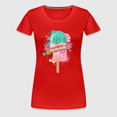 popsicle with strawberry - Women's Premium T-Shirt