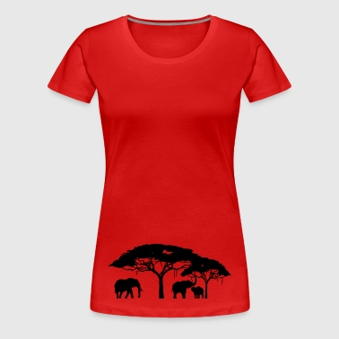 Steppe - Frauen Premium T-Shirt