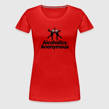 Alcoholics Anonymous AA - Women's Premium T-Shirt