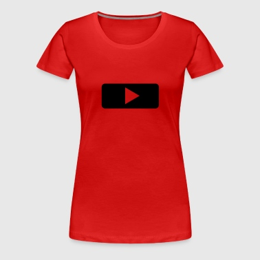 Play - Tasten - Player - Musik - Frauen Premium T-Shirt