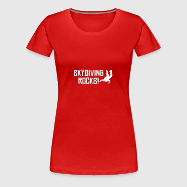 skydiving rocks 2 - Frauen Premium T-Shirt