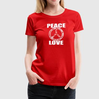 Peace Love T-Shirt Peace and Love Peace Sign - Women's Premium T-Shirt