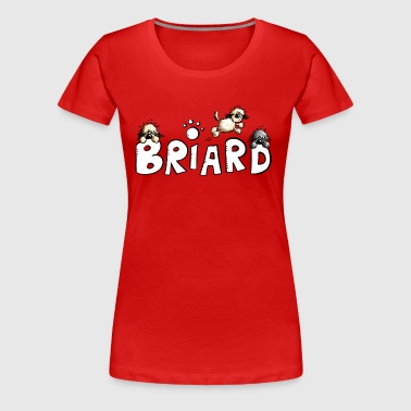 Briard Comic Font - Dog - Dogs - Women's Premium T-Shirt