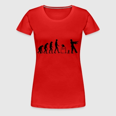 Evolution Zombie - Halloween - T-shirt Premium Femme