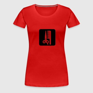 Scissors,Comb,Barber,Hair - Women's Premium T-Shirt
