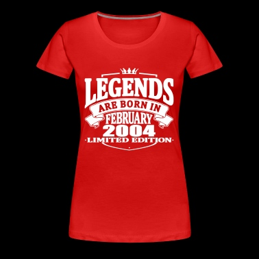 Legends are born in february 2004 - Women's Premium T-Shirt