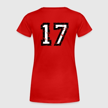 The Number Seventeen - No. 17 (two-color) white - Women's Premium T-Shirt
