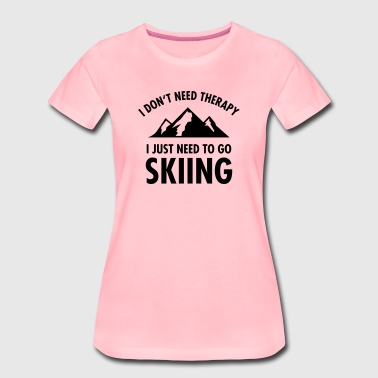 Therapy - Skiing - T-shirt Premium Femme