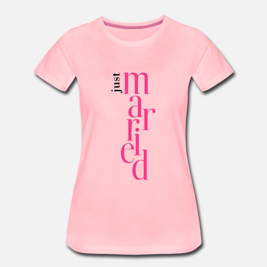Declaration Of Love T-Shirts - married - Women's Premium T-Shirt pink