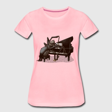 spider Pianist - Frauen Premium T-Shirt