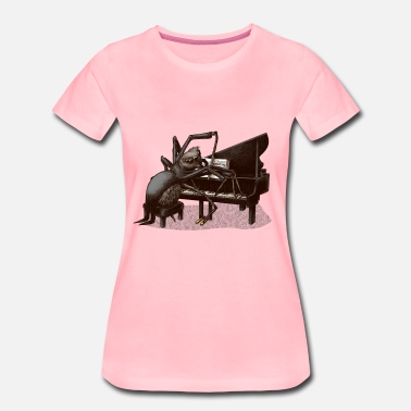 Collections spider Pianist - Dame premium T-shirt