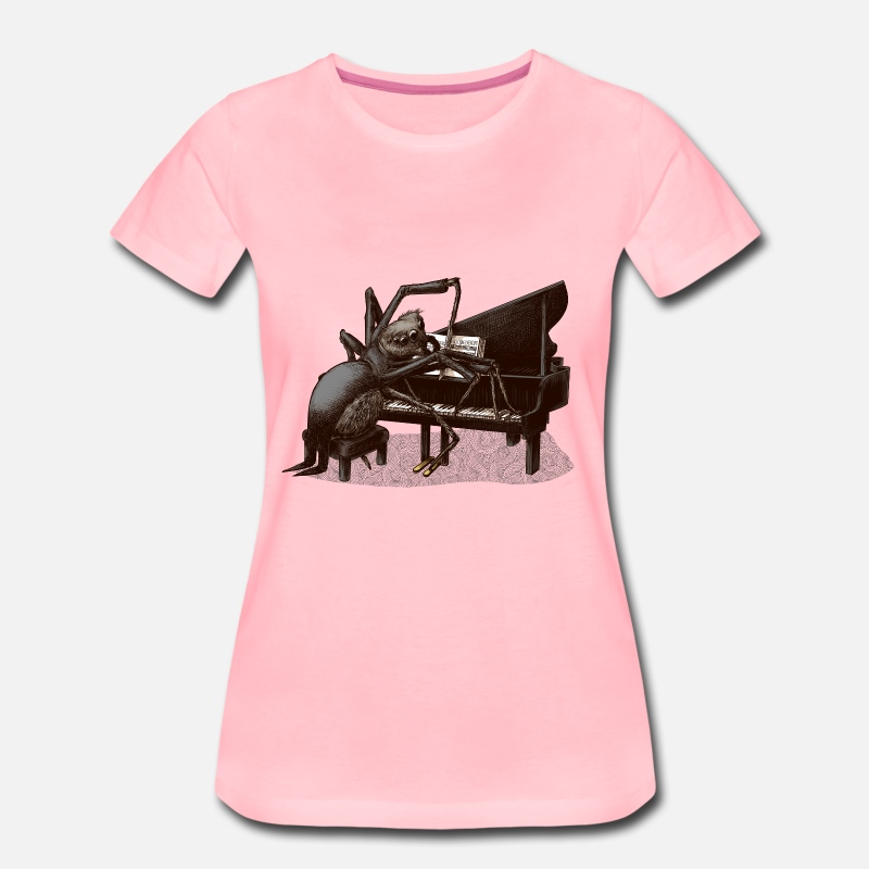 Collection T-Shirts - spider Pianist - Women's Premium T-Shirt pink