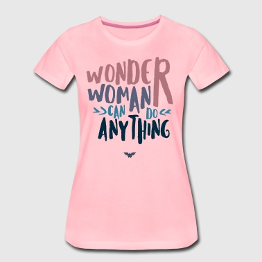 DC Comics Wonder Woman Can Do Anything Quote - Premium-T-shirt dam