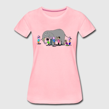 Zoo Elefant - Frauen Premium T-Shirt