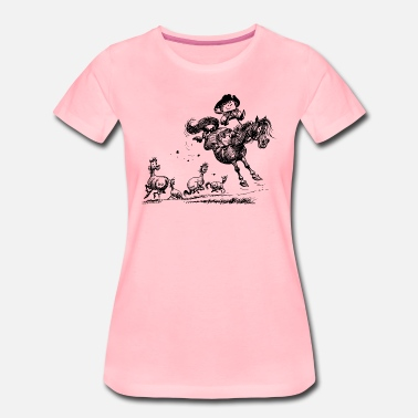 Riding Western Thelwell 'Cowboy Western riding' - Camiseta premium mujer