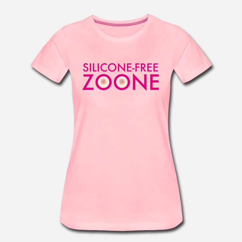 Mum T-Shirts - Silicone-Free Zoone No silicone Breasts | operating room - Women's Premium T-Shirt pink