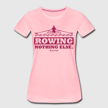 rowing nothing else Rudern Skull Boot Skiff - Vrouwen Premium T-shirt