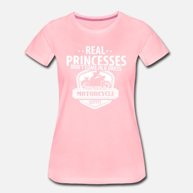 Motorcycle Real Princesses Motorcycle  - Women's Premium T-Shirt