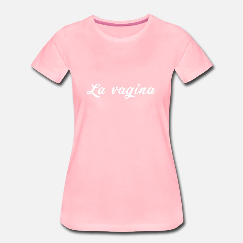 Girls Night Out T-Shirts - La vagina - Women's Premium T-Shirt pink