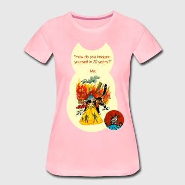 Kitty of Destruction - T-shirt Premium Femme