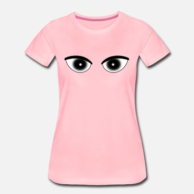Pupil Eye Eyes pupil white - Women's Premium T-Shirt