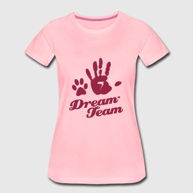 Dream-Team Tierliebhaber Pfote  - Frauen Premium T-Shirt