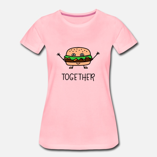 Partnerlook T-Shirts - Better Together Partnerlook (Part2) Burger - Frauen Premium T-Shirt Pink