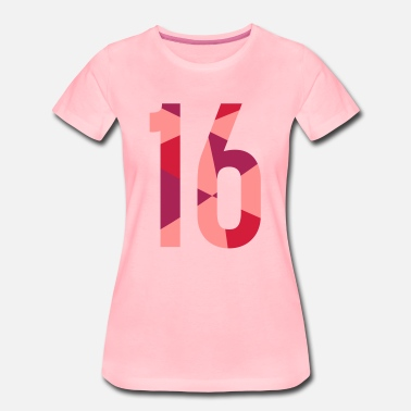 16th Birthday 16th birthday - in polygon design - Women's Premium T-Shirt