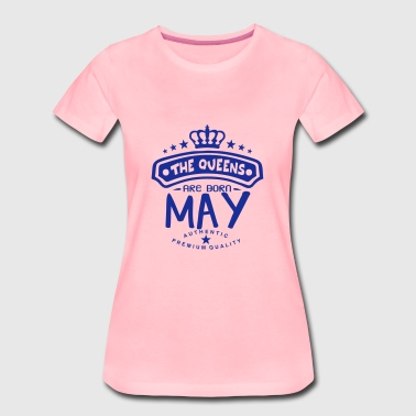 may born queens crown logo - Women's Premium T-Shirt
