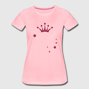 Bachelor Party Princess Crown and Stars - Women's Premium T-Shirt