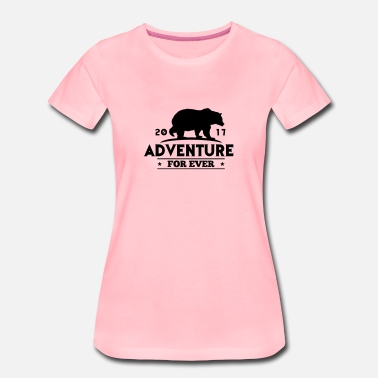 Gewijd ADVENTURE FOR EVER - GRIZZLY - Vrouwen Premium T-shirt