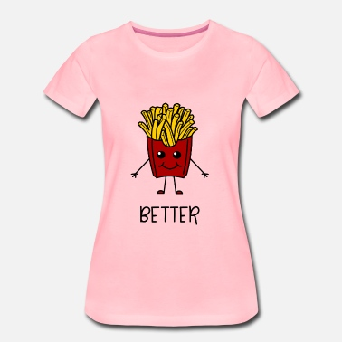 Sister frietjes Better Together Partnerlook ( Part 1 ) - Vrouwen Premium T-shirt