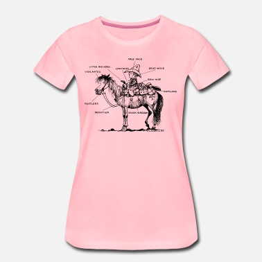 Riding Western Thelwell 'Learning Western riding' - Camiseta premium mujer