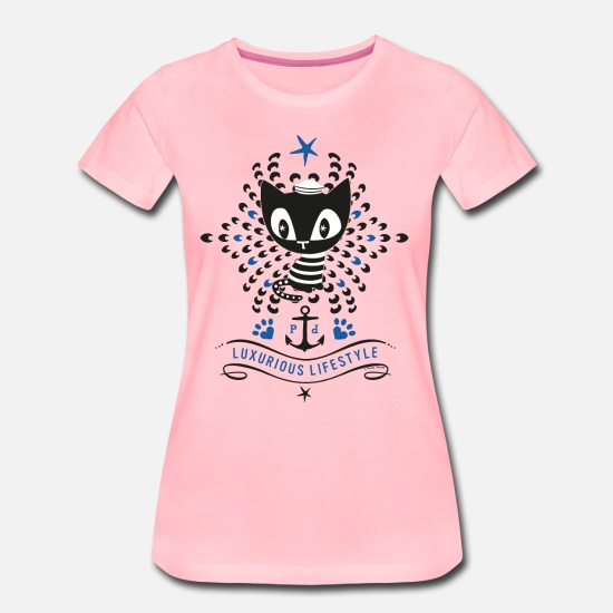 Officialbrands T-Shirts - Pussy Deluxe Luxurious Lifestyle  - Women's Premium T-Shirt pink